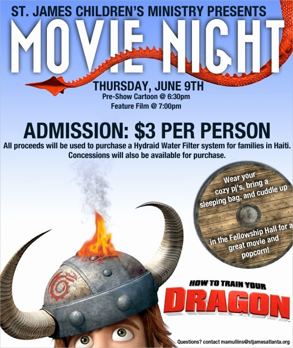 17 Movie Night Flyer Templates