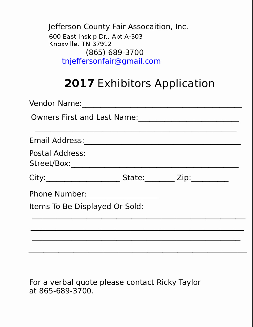 17 Of Exhibitor Registration form Template