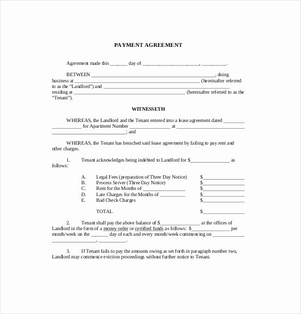 17 Payment Agreement Templates Pdf Doc Pages