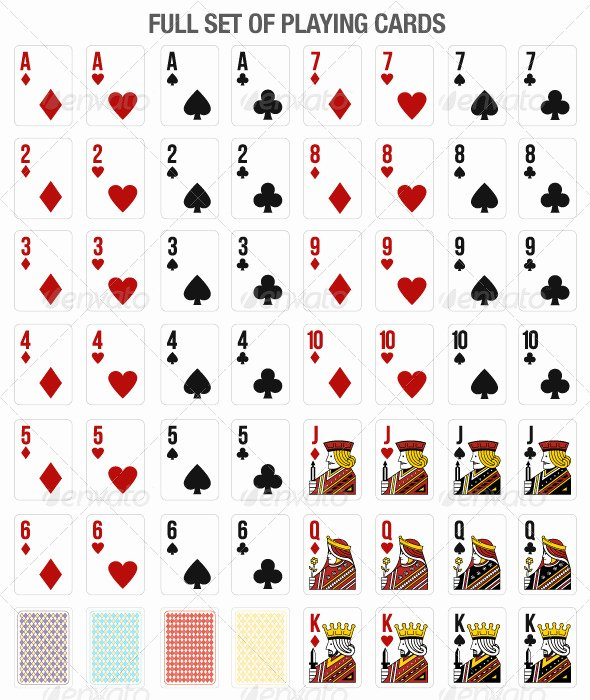 17 Playing Card Template Vector Free Vector