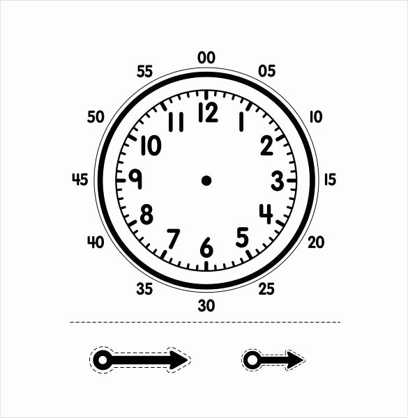 17 Printable Clock Templates Pdf Doc