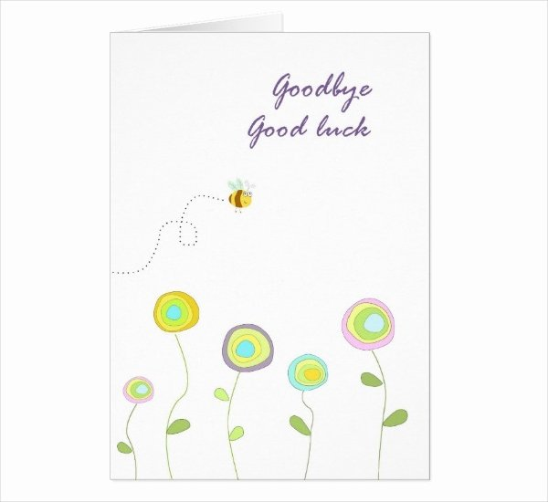 17 Printable Good Luck Card Designs & Templates Psd Ai