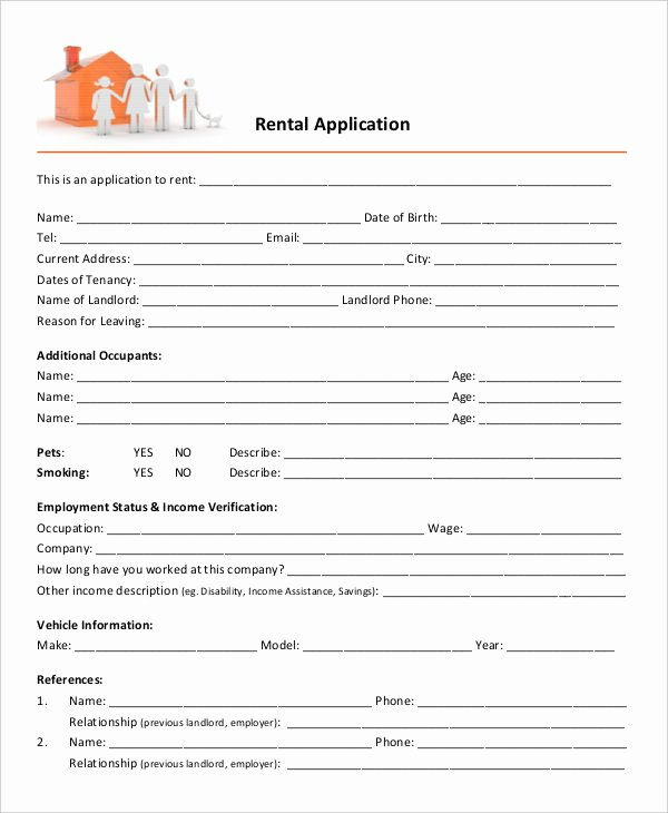 17 Printable Rental Application Templates