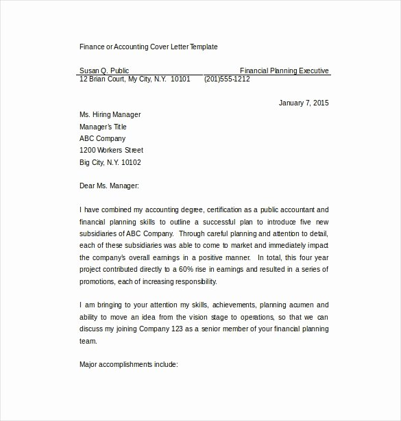 17 Professional Cover Letter Templates Free Sample