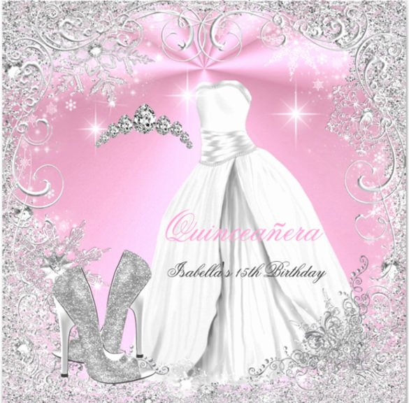 17 Quinceanera Invitation Templates Free Sample