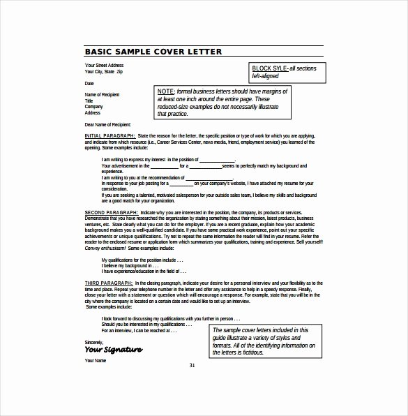 17 Resume Cover Letter Templates – Free Sample Example