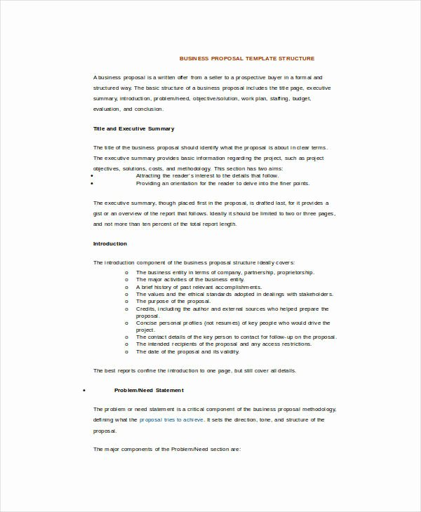 17 Sample Business Proposal Templates In Word