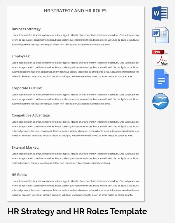 17 Sample Hr Strategy Templates