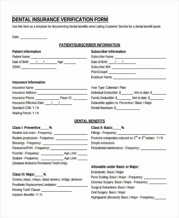 17 Sample Insurance Verification forms