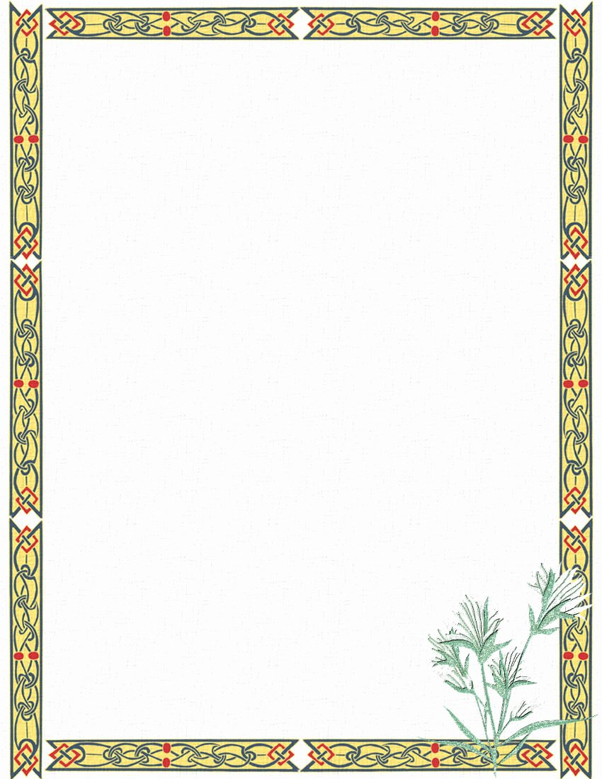 post stationery border designs