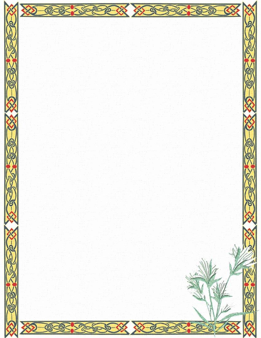 17 Stationery Border Designs Free Printable