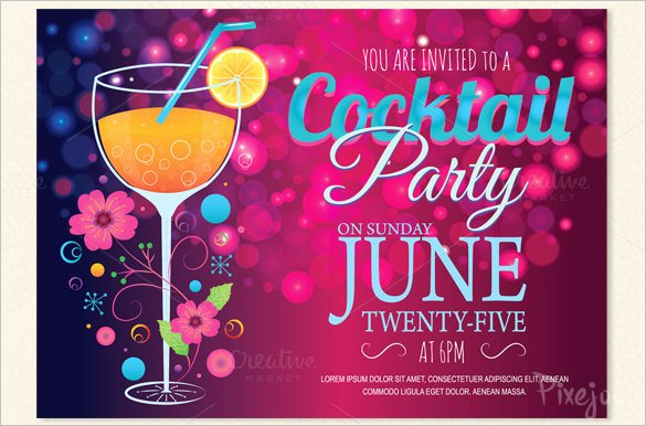 17 Stunning Cocktail Party Invitation Templates & Designs