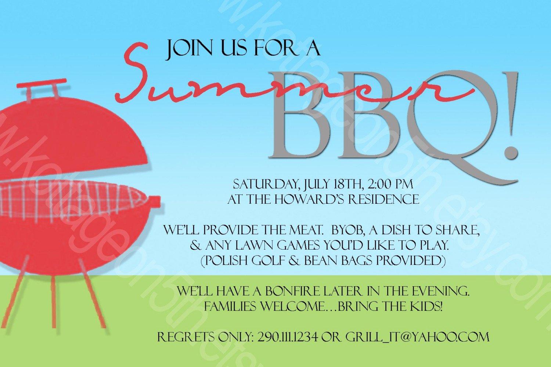 17 Summer Bbq Invitation Word Template Free
