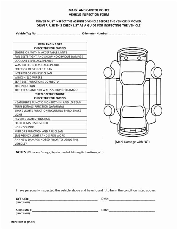 17 Vehicle Checklist Samples & Templates