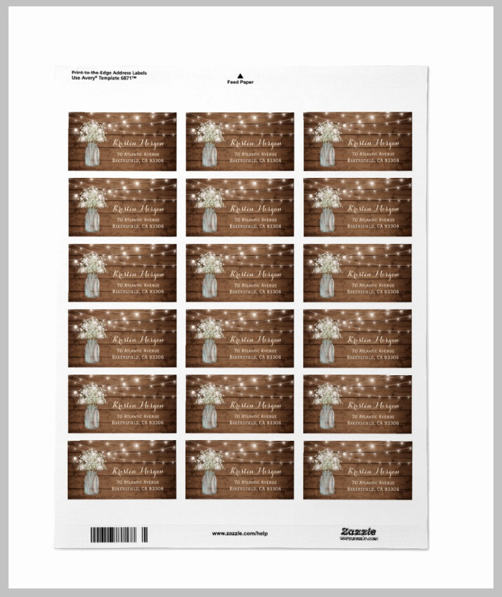 17 Wedding Address Label Designs Psd Vector Eps