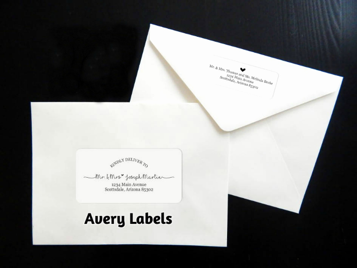 17 Wedding Address Label Designs Psd Vector Eps