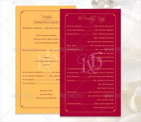 17 Wedding Program Template