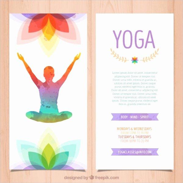 17 Yoga Brochures Psd Ai Eps