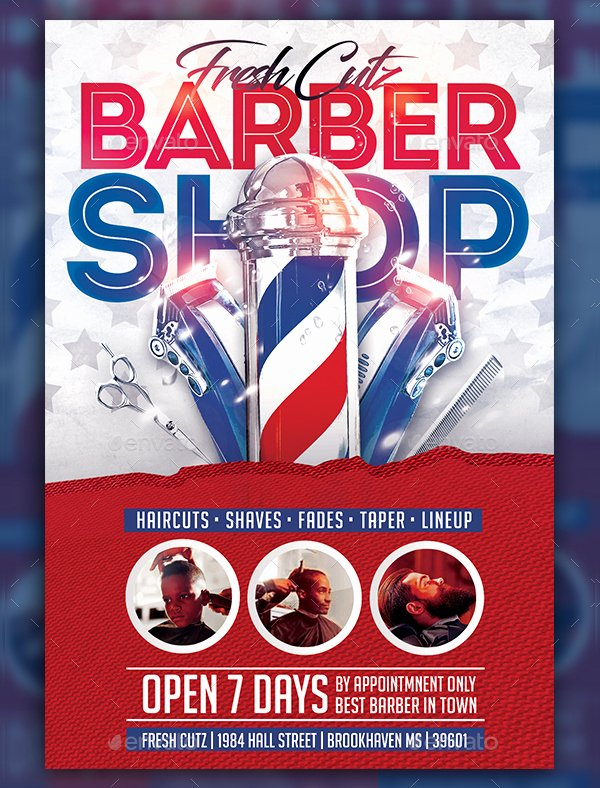 18 Barber Shop Flyer Templates Free Premium Psd format