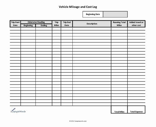 18 Best Of Mileage Expense Worksheets Free