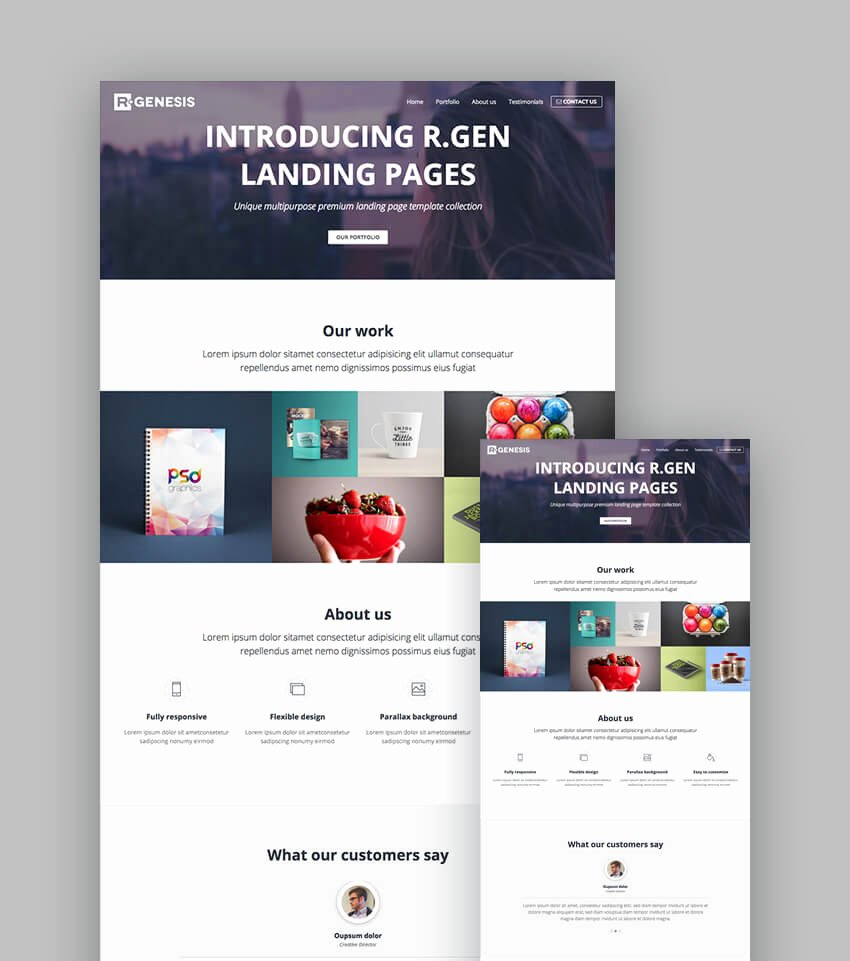 18 Best Responsive HTML5 Landing Page Templates 2018