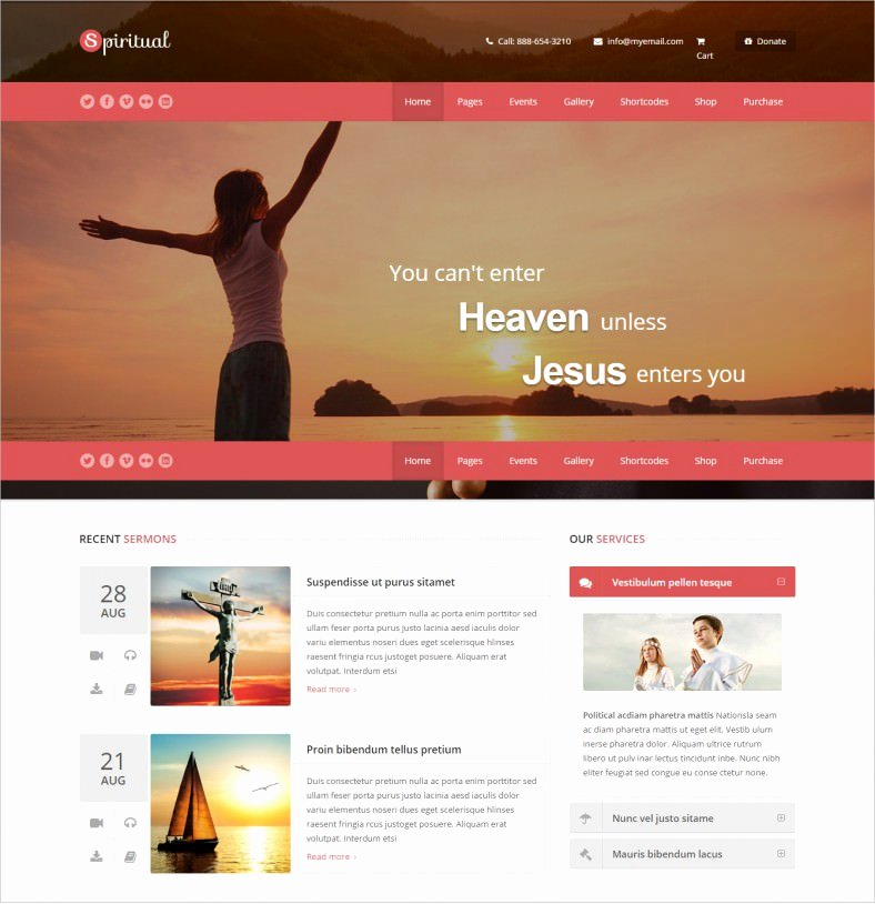 18 Best Spiritual Website Templates Free & Premium themes