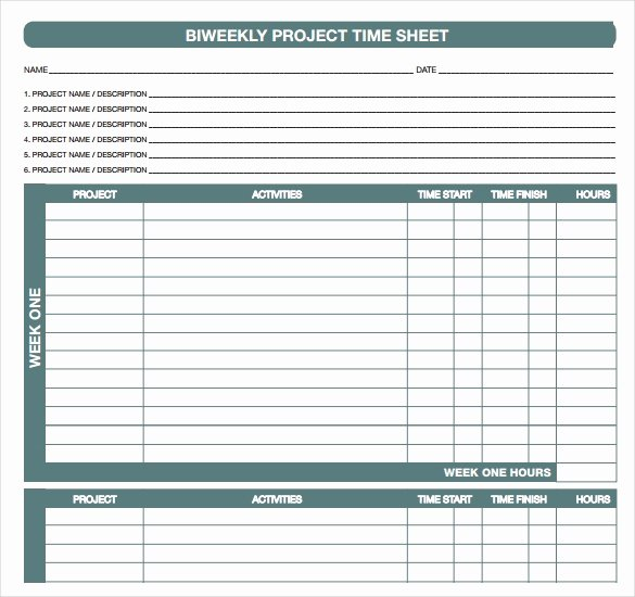 18 Bi Weekly Timesheet Templates – Free Sample Example
