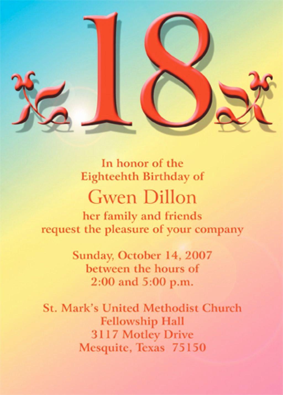 18 Birthday Invitation Templates 18th Birthday