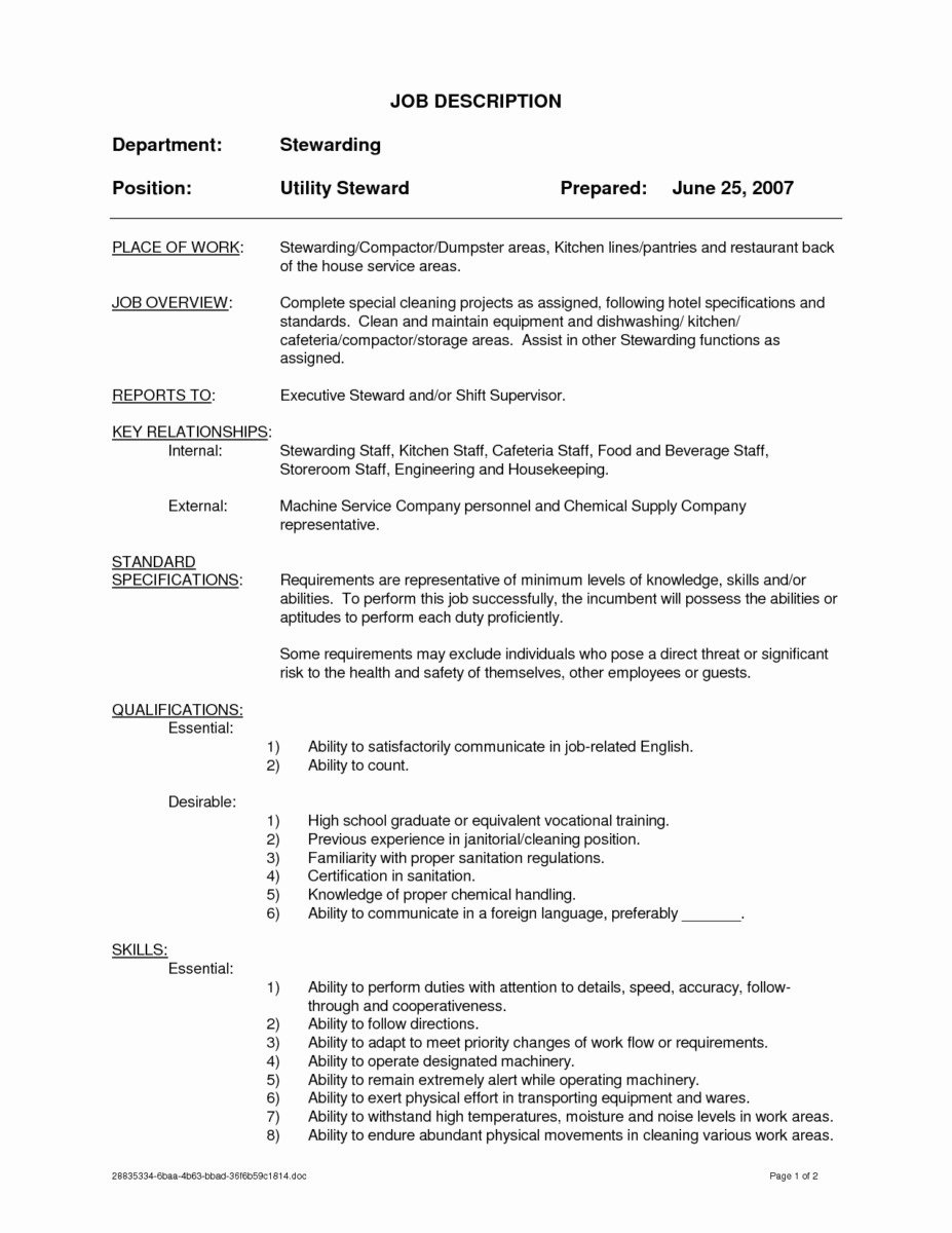 18 Cleaner Resume Example