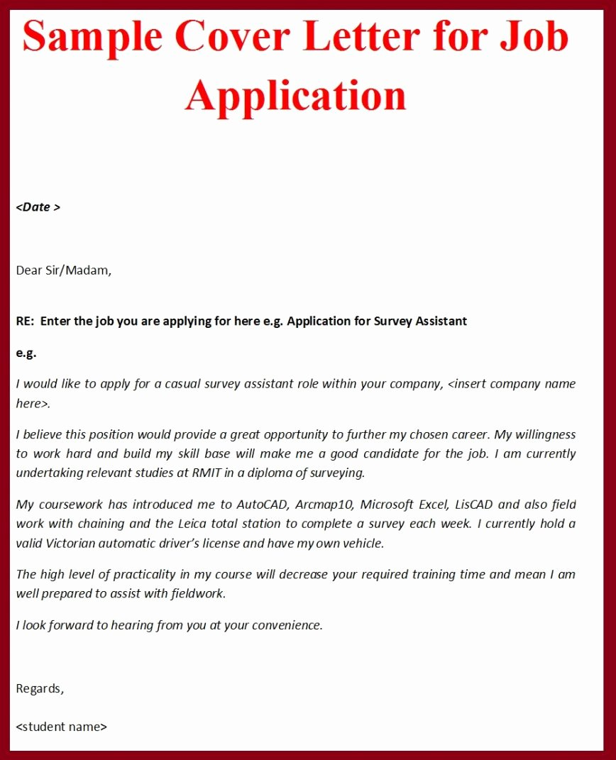 18 Cover Letter Example Pdf
