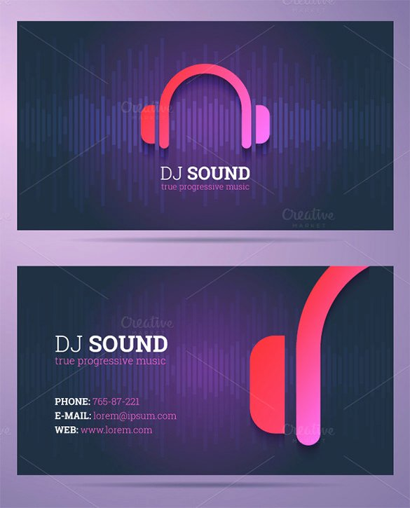 18 Dj Business Cards – Free Psd Eps Ai Indesign Word