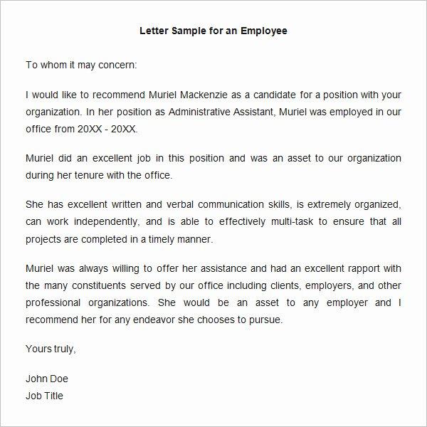 18 Employee Re Mendation Letters Pdf Doc