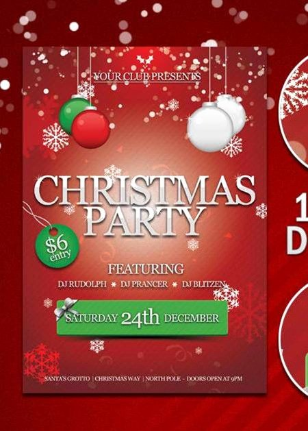 18 Free Christmas Flyer Design Templates