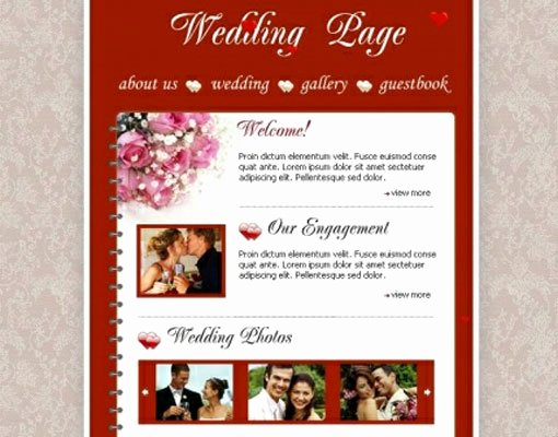 18 Free Lovely Wedding Website Templates