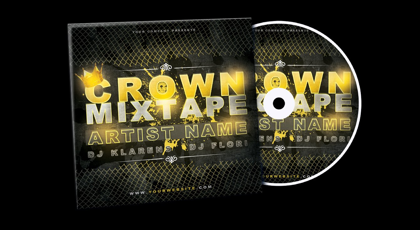 18 Free Mixtape Template Psd Free Mixtape Cover