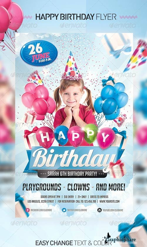 18 Free Psd Party Flyers Templates for Kids Kids