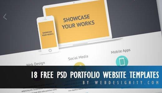 18 Free Psd Portfolio Website Templates