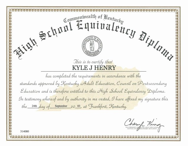 18 Ged Certificate Template Download Free Ged