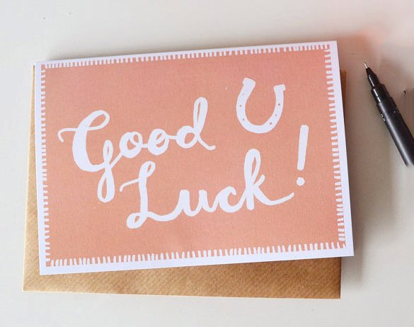 sample good luck card