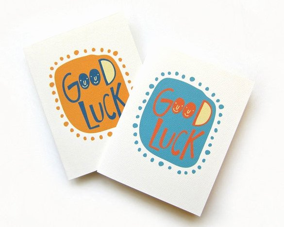 18 Good Luck Card Templates Psd Ai Eps