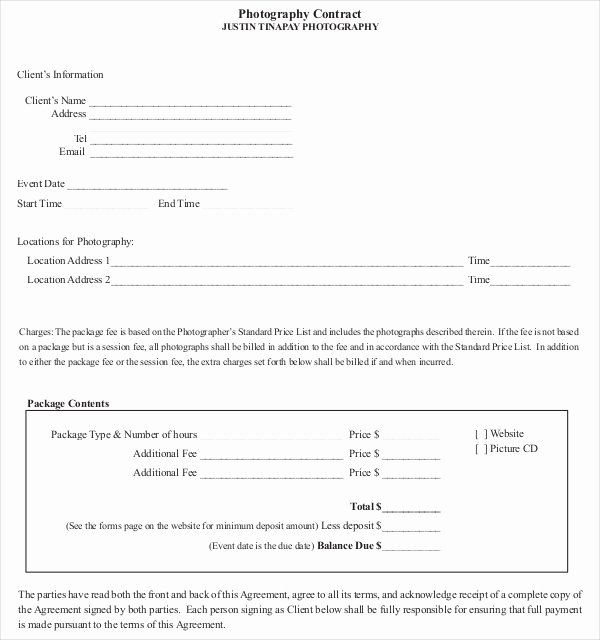 18 Graphy Contract Templates – Pdf Doc