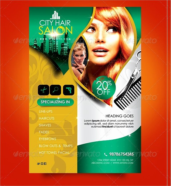 18 Hair Salon Flyer Templates