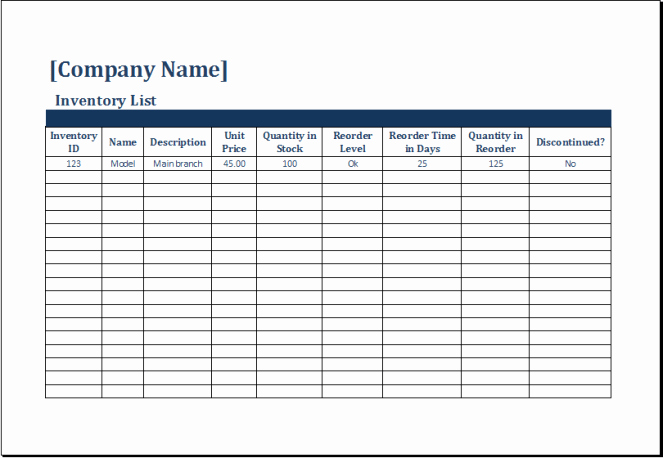 18 Inventory Spreadsheet Templates Excel Templates
