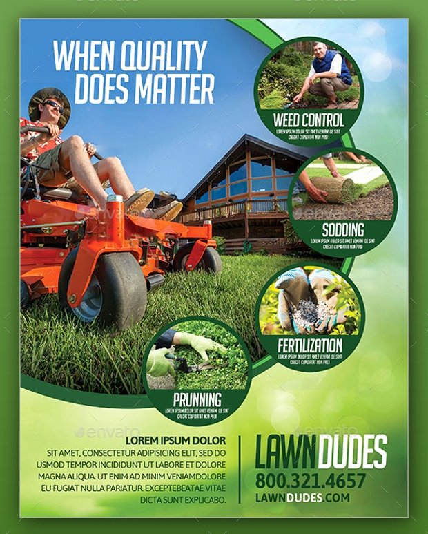 18 Landscaping Flyer Templates Printable Psd Ai