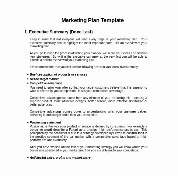 18 Marketing Plan Templates Free Word Pdf Excel Ppt