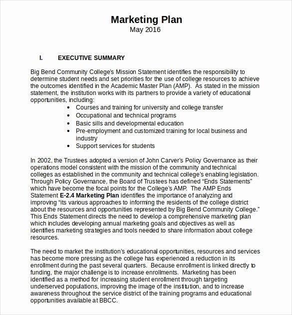 18 Microsoft Word Marketing Plan Templates