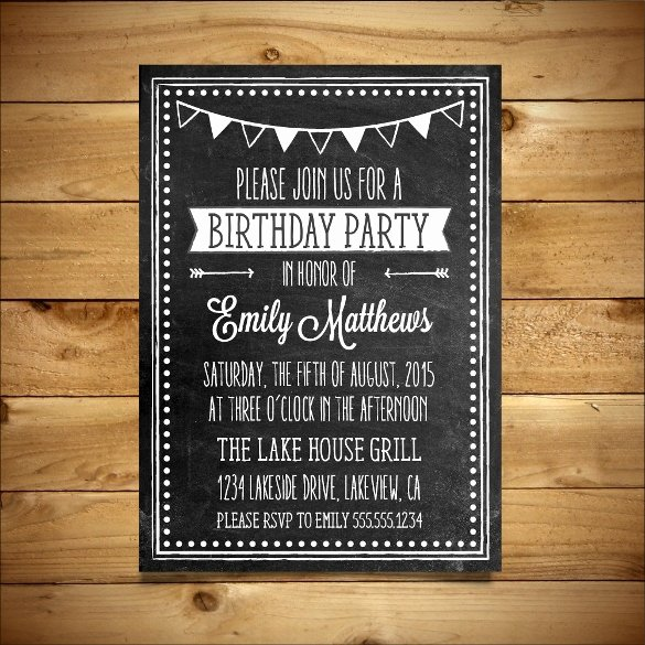 18 Ms Word format Birthday Templates Free Download