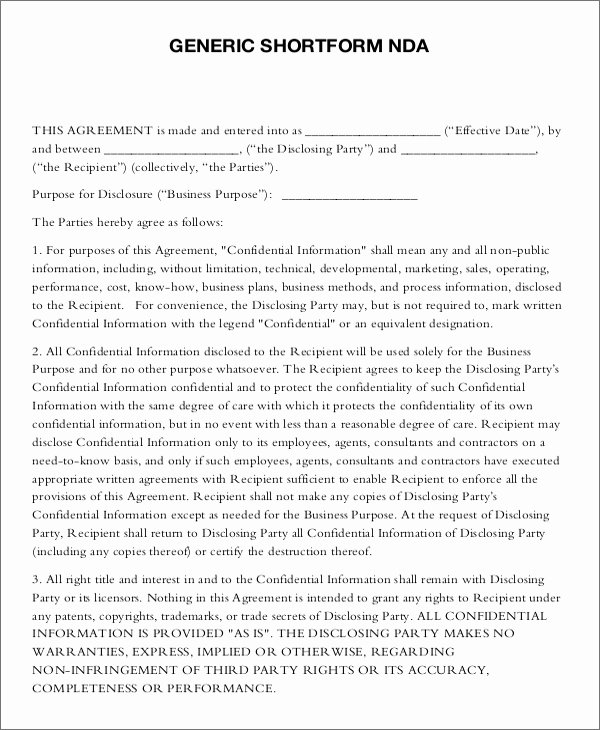 18 Non Disclosure Agreement Templates Free Pdf Word formats