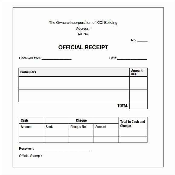 18 Payment Receipt Templates – Free Examples Samples