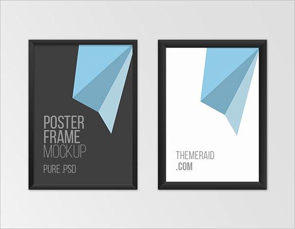 18 Poster Frame Mockups & Designs Psd